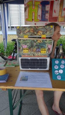 Der Solar-Ranzen auf dem Stadtteilfest Hellersdorf-Nord
