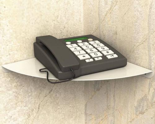 étagère tablette coin et angle pour téléphone