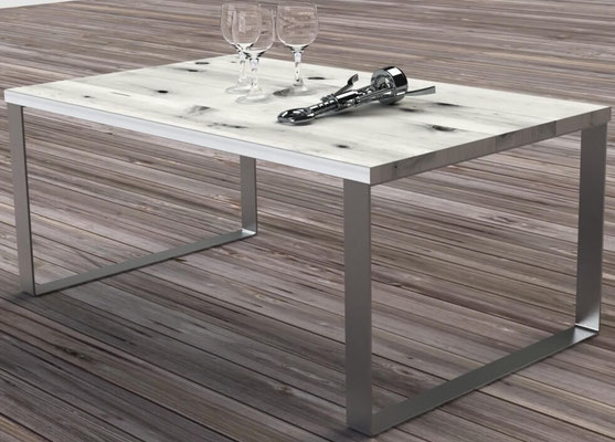 pied de table basse en inox