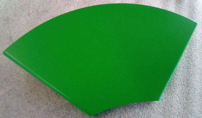 Etagère tablette d'angle verte