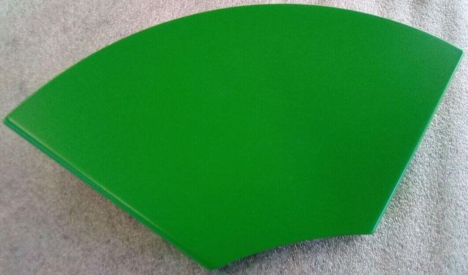 Tablette d'angle coloris vert jaune RAL 6018