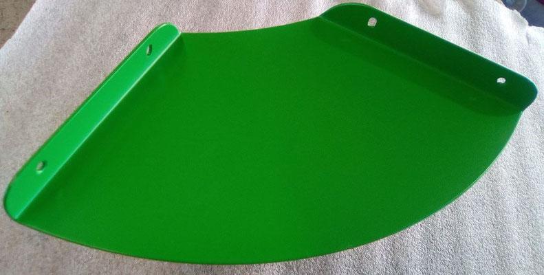 Tablette d'angle design en métal coloris vert