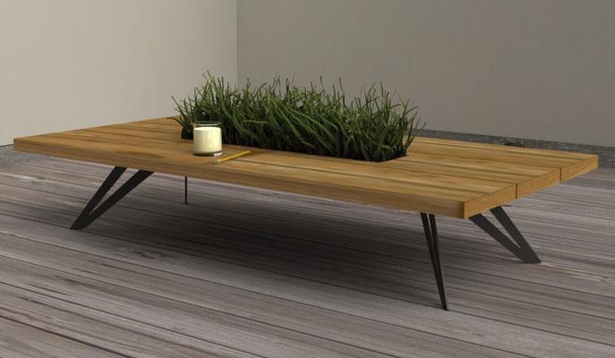 pied de table basse en acier