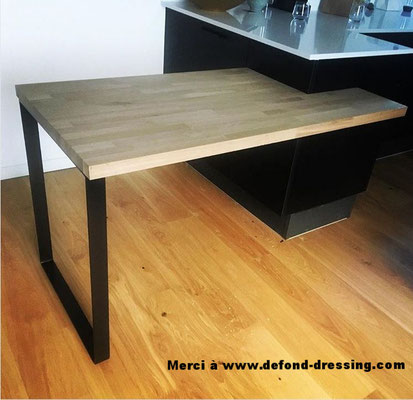 pied de table de cuisine coloris noir