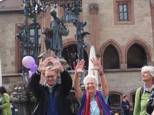Lesbisch sichtbar am Gänseliesel, 19.05.2018, (C) Barbara Guth