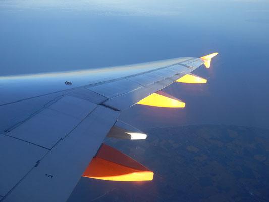 Rückflug aus England 2013