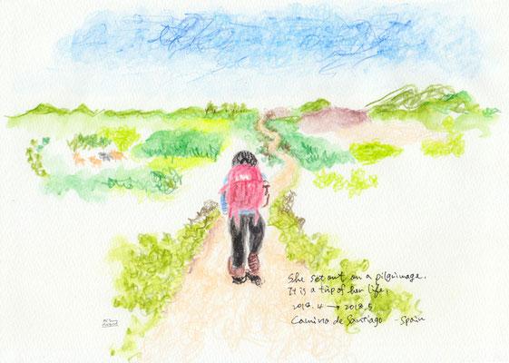 巡礼の旅をする友 my friend set out on a pilgrimage (2018.4→2018.5)