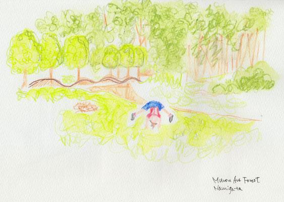 Murou art forest - 波形の土盛 (2017.9.23SAT)