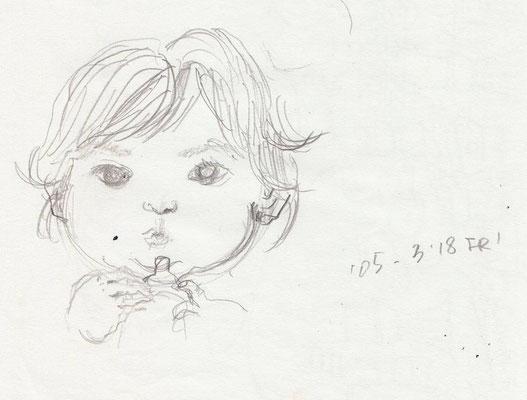 哺乳瓶拒否の下子 youngest daughter (05.3.18 FRI)