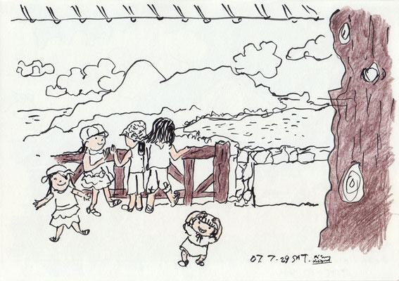 姪1・2・3号と一緒に♡ with my nieces (2007.7.29SAT)