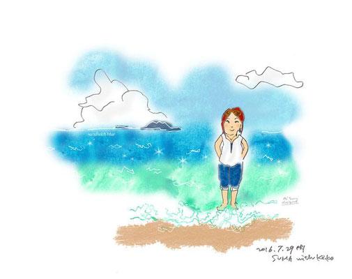 【 私たちの美しいエーゲ海✨ 】 -Suma beach (2016.7.29FRI)