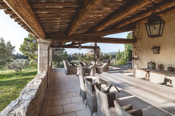 The traditional Provençal villa of Hameau des Baux