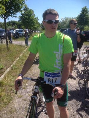 Michael Schmiedel beim Leipziger Triathlon.