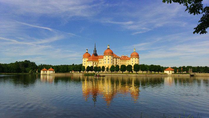 Das Schloss Moritzburg am 11. Juni 2017