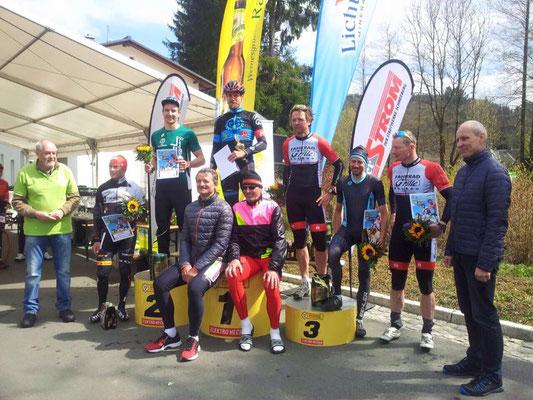 Eike Wittig zur Siegerehrung beim Familien-Fahrrad-Fest.