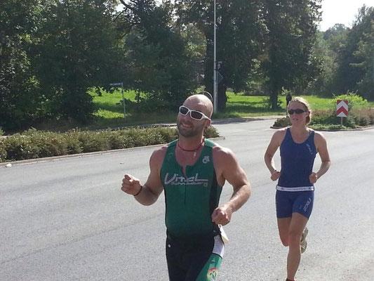 Tim Schicker auf der Laufstrecke.
