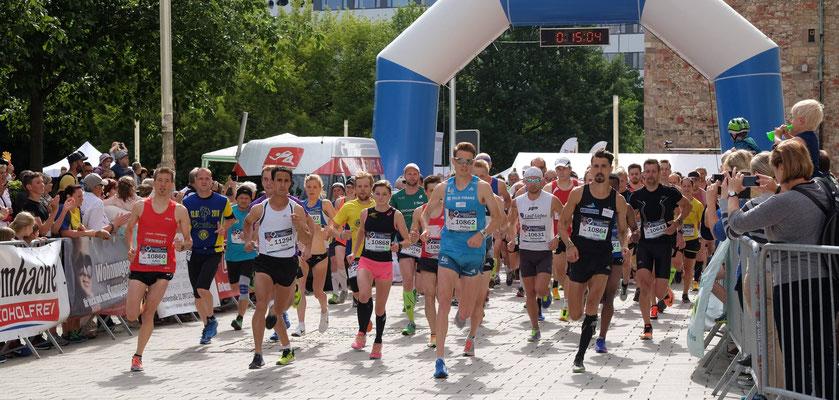 Erik Werner am Start beim 9. Chemnitzer Marathon.