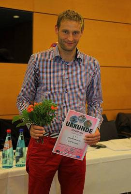 Andre Melech nach der Siegerehrung des STV-Cups.