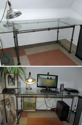 diy industrial pipe gallerie iltubo diy m bel aus stahlrohr und gewindefittings. Black Bedroom Furniture Sets. Home Design Ideas