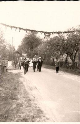 1964 Empfang der Gäste bei Hesebeck/Barge