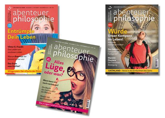 Zeitschriften-Titel »Abenteuer Philosophie«, Philosophiemagazin im deutschen Sprachraum