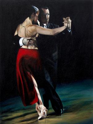 "Tangokunst ""Tangopaar N°26"", 120x90 cm, Acryl auf Leinwand, 2019"