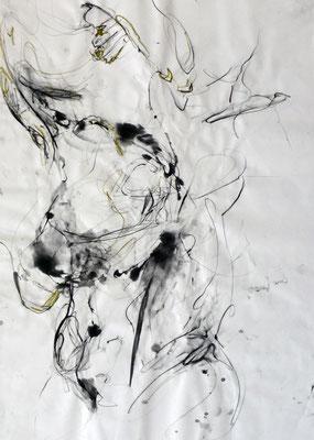 """""""AbstrAKT N° 3"""", DIN A 1, Mischtechnik auf Papier, 2009"""