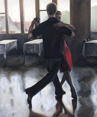 """Tangokunst """"Tangopaar N°9"""", 120 x 100 cm, Acryl auf Leinwand, 2019 (verkauft)"""
