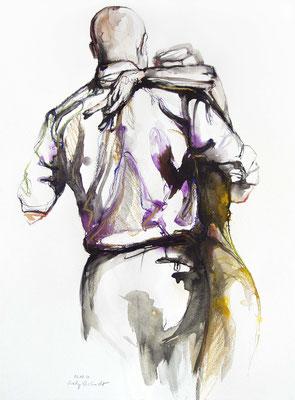 """Tangokunst """"Tangopaar N°46"""", 65x50 cm, Mischtechnik auf Papier, 2020"""