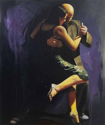 "Tangokunst ""Tangopaar N°8"", 120 x 100 cm, Acryl auf Leinwand, 2019"