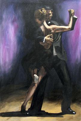 """Tangokunst """"Tangopaar N°7"""", 150 x 100 cm, Acryl auf Leinwand, 2018 (verkauft)"""
