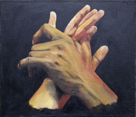 "Tangokunst ""Verbindung"", 34 x 40 cm, Acryl auf Leinwand, 2018 (verkauft)"