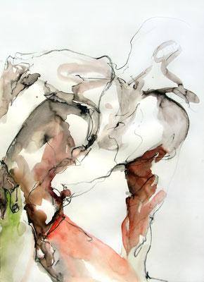 """Aktzeichnung """"Oskar"""", 67 x 50 cm, Mischtechnik auf Papier, 2016"""