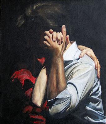 """Tangokunst """"Tangopaar N°20"""", 70x60 cm, Acryl auf Leinwand, 2019 (verkauft)"""