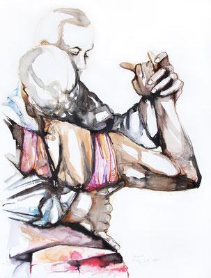 """Tangokunst """"Tangopaar N°24"""", 65x50 cm, Mischtechnik auf Papier, 2019"""