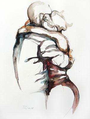 """Tangokunst """"Tangopaar N°49"""", 65x50 cm, Mischtechnik auf Papier, 2021"""