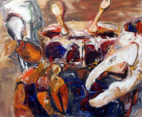 """Krabben"", 180 x 220 cm, 2010, Acryl auf Leinwand (verkauft)"