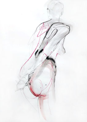 """Maren"", 59 x 42 cm, Mischtechnik auf Papier, 2017"