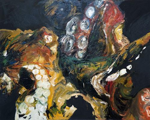 """Riesenkraken"", 170 x 210 cm, Acryl auf Leinwand, 2009 (verkauft)"