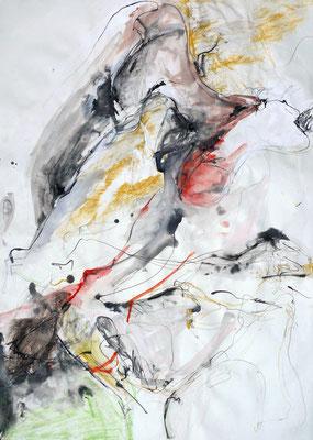 """""""AbstrAKT N° 2"""", DIN A 1, Mischtechnik auf Papier, 2009"""
