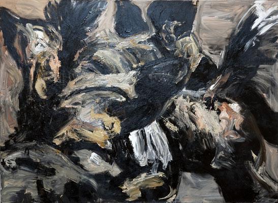 """Wildhunde"", 180 x 220 cm, Acryl auf Leinwand, 2009"
