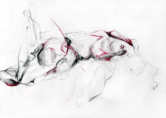 """""""Victoria"""", DIN A 1, Mischtechnik auf Papier, 2009"""