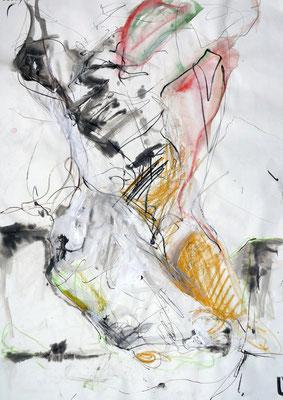 """""""AbstrAKT N° 1"""", DIN A 1, Mischtechnik auf Papier, 2009"""