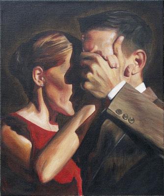"""Tangokunst """"Tangopaar N°34"""", 60x50 cm, Acryl auf Leinwand, 2019 (verkauft)"""