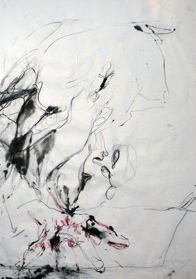 """""""AbstrAKT N° 4"""", DIN A 1, Mischtechnik auf Papier, 2009"""