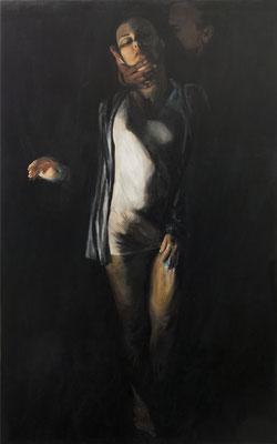 """""""Temptation"""", 200 x 130 cm, Acryl auf Leinwand, 2018"""