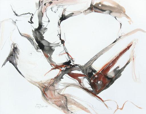 """Aktzeichnung """"Dorian"""", 50 x 65 cm, Mischtechnik auf Papier, 2020"""