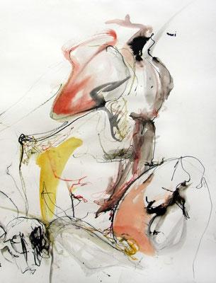 """Aktzeichnung """"Felix"""", 70 x 50 cm, Mischtechnik auf Papier, 2015"""