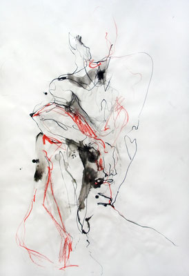 """Antonio"", 83 x 59 cm, Mischtechnik auf Papier, 2015"
