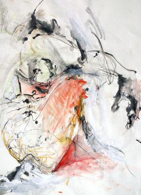 """Dana"", DIN A 1, Mischtechnik auf Papier, 2009"